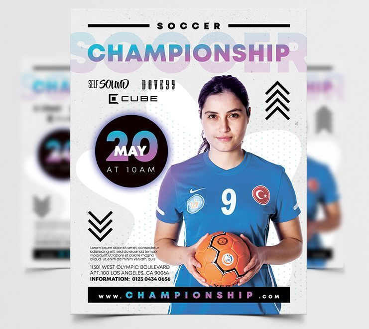 Soccer Championship PSD Free Flyer Template