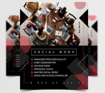Social Meeting Free Business Flyer Template (PSD)