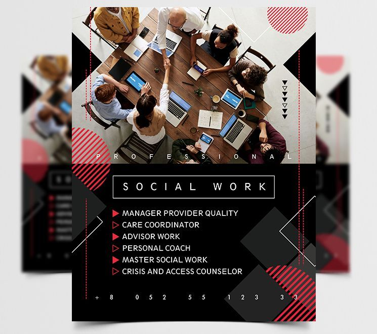 Social Meeting Free Business Flyer Template (PSD)