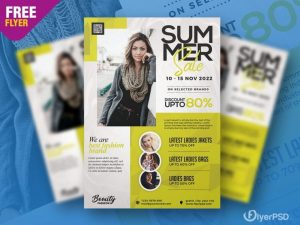 Special Summer Sale Free Flyer Template (PSD)