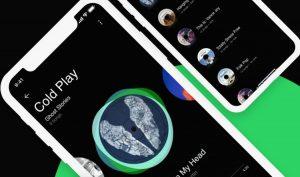Spotify Concept APP Free UI Kit XD