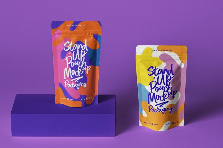 Stand Up Pouch Packaging Free Mockup