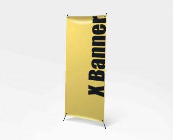 Standing X Banner Free Mockup