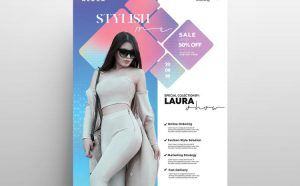 Stylish Fashion Week Free Flyer Template (PSD)
