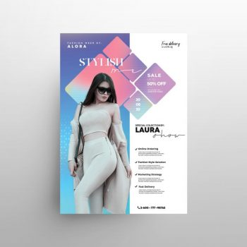 Stylish Fashion Week Free Flyer Template (PSD)