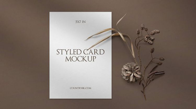 Stylish Free Invitation Card Mockup