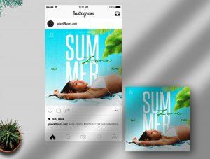 Summer Begins Event Free Instagram Template (PSD)