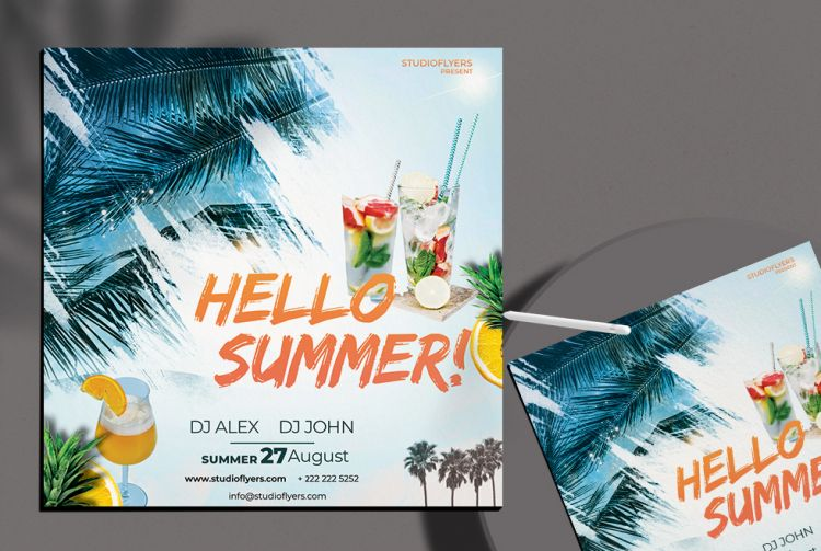 Summer Day Free Event Flyer Template (PSD)