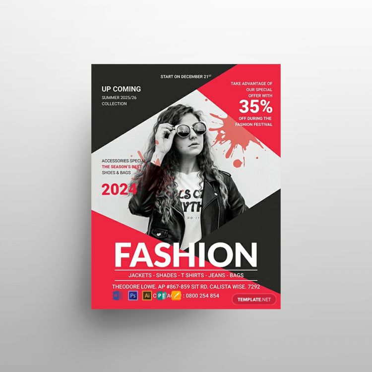 Summer Fashion Free Flyer Template