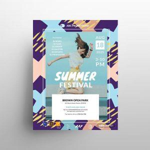 Summer Festival Free Flyer Template (PSD)