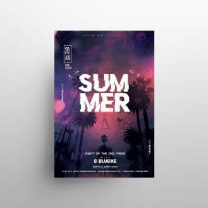 Summer Night Free Flyer Template (PSD)