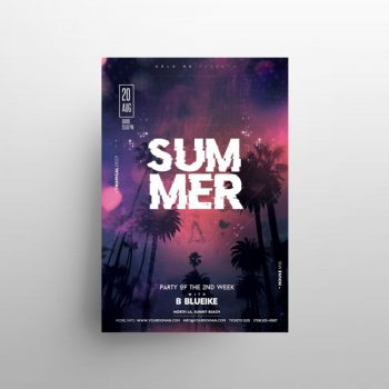 Summer Night Free Flyer Template (PSD)