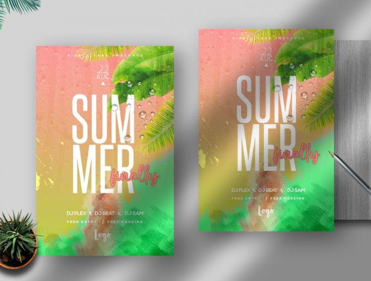 Summer Season Free Flyer Template (PSD)