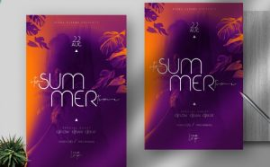 Summer Time Free Flyer Template (PSD)
