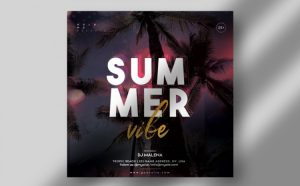 Summer Vibe Free Party Flyer Template (PSD)