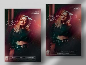 Sunday Social – Free Party PSD Flyer Template