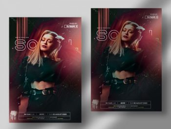 Sunday Social - Free Party PSD Flyer Template