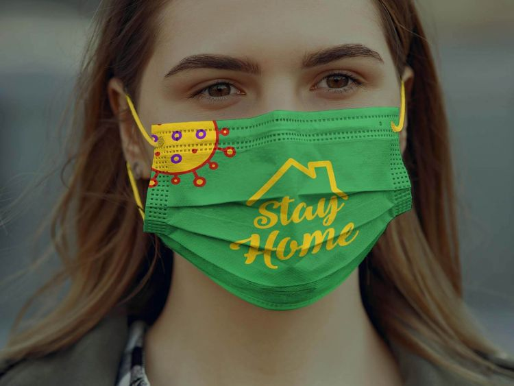 Surgical Face Mask Free Mockup