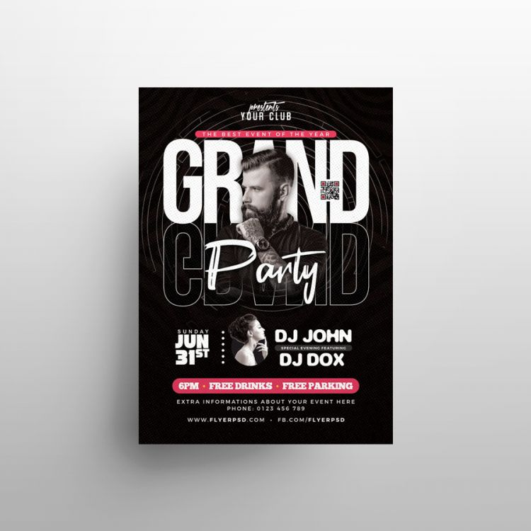 The Grand Party Free Flyer Template (PSD)