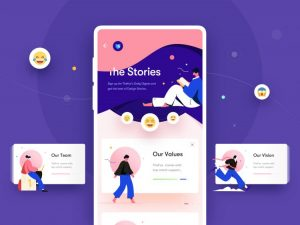 The Stories – Free UI Kit Sketch