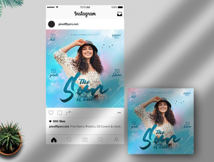 The Summer Event Free Instagram Template (PSD)