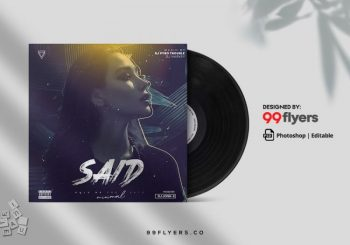 Trance Music Free Mixtape CD Cover Template (PSD)