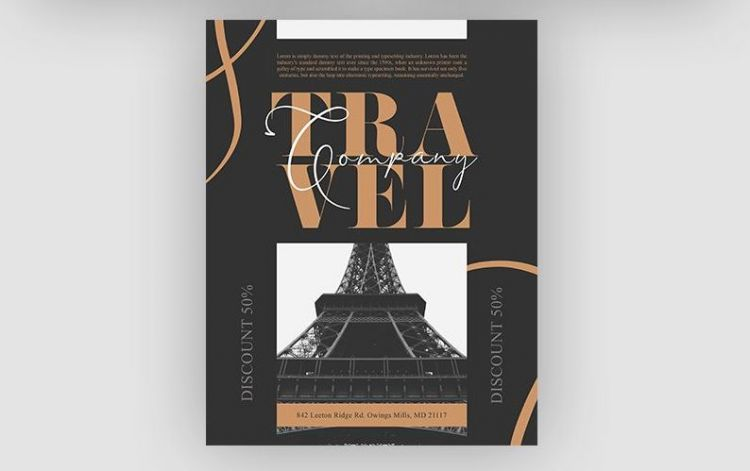 Travel Blogger Free PSD Flyer Template
