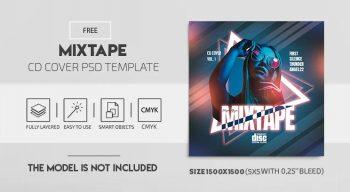 Urban Mixtape Free CD Cover Template (PSD)