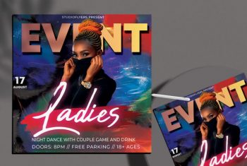 Urban Party Vol3 Free PSD Flyer Template