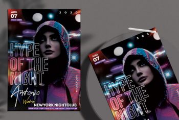 Vibe Night Free Party PSD Flyer Template