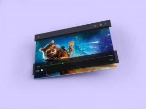 Video Player Free Mockup