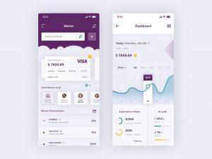 Wallet & Dashboard iOS Free App UI