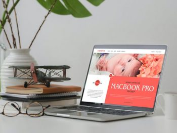 Website Showcase on MacBook Pro Free Mockup