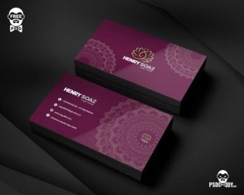 Yoga Trainer Free Business Card (PSD)