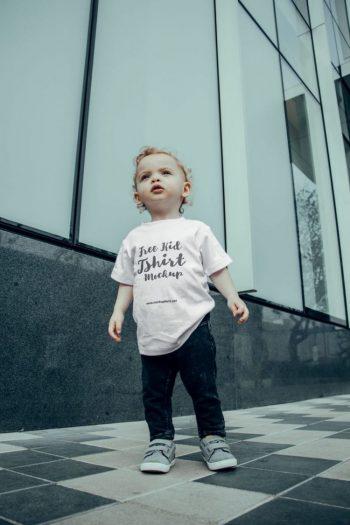 Young Kid T-Shirt Free Mockup
