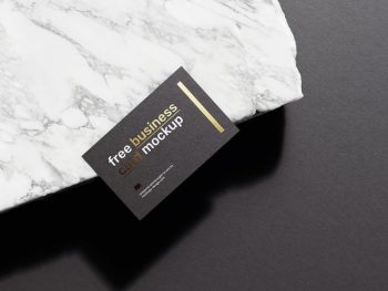 3 Business Cards Free Mockup