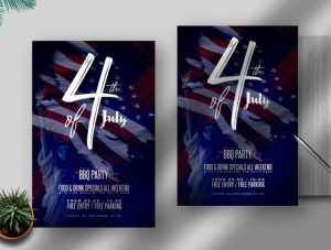 4th of July Day Party Free Flyer Template (PSD)