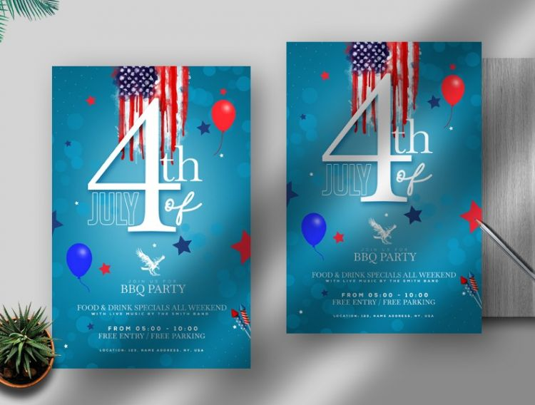4th of July Event Free PSD Flyer Template