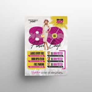 80's Party Free Flyer Template (PSD)