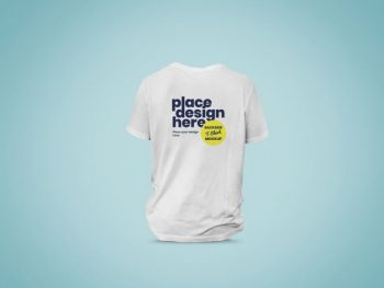 Backside of T-Shirt Free Mockup