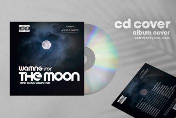 Balads Moon Free Mixtape CD Artwork Cover Template (PSD)