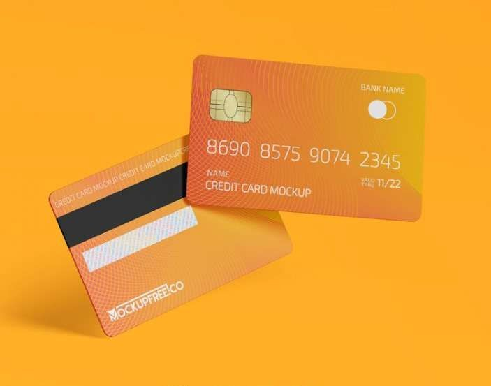 Bank Credit Card Free Mockup (PSD)