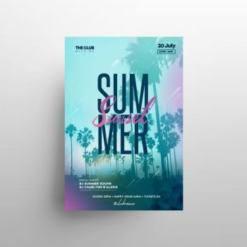 Beach Fest Free Tropical Flyer Template (PSD)