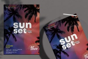 Beach Party Free Flyer Template (PSD) vol2