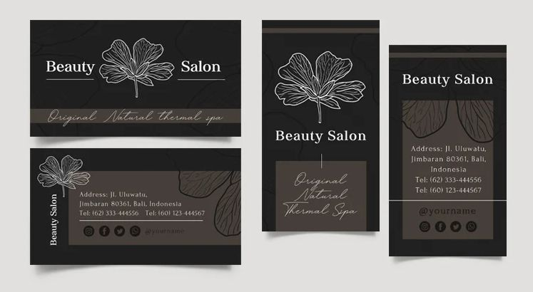 Beauty Salon Free Business Card (PSD)