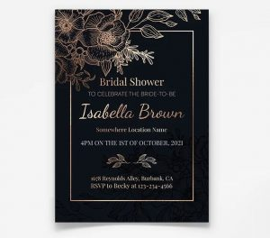 Bridal Shower Invitation Free Flyer Template (PSD)