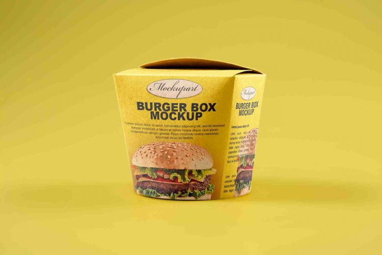 Burger Box Packaging Free Mockup