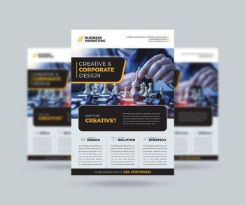 Business Marketing Free Flyer Template (PSD)