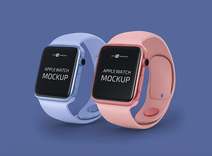 Clean Apple Watch Free Mockup (PSD)