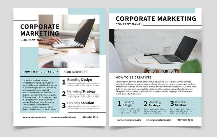 Clean Marketing Business Free Flyer Template (PSD)